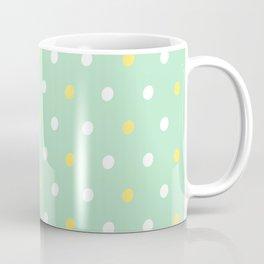 yellow white mint design Coffee Mug