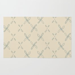 Abstract Astral Pattern in Yellow & Green Rug
