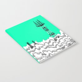 San Francisco - Sutro Tower (green sky) Notebook