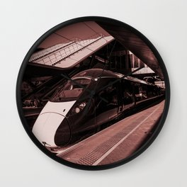 IET in Red  Wall Clock
