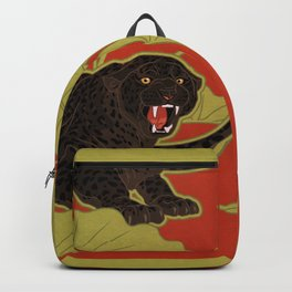 Black Panthers on  Red. Backpack