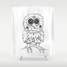 Holy Hooter Shower Curtain