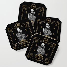 The Lovers VI Tarot Card Coaster