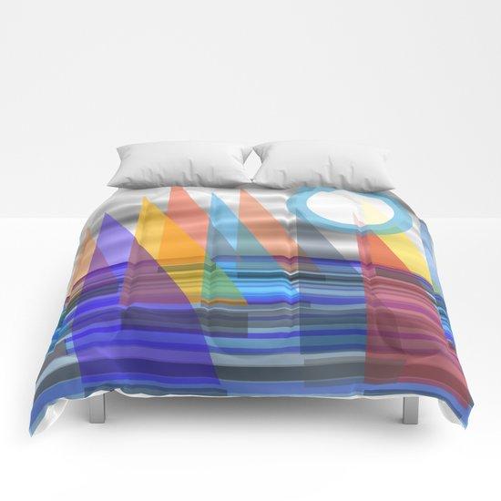 Geometric Sailing Comforters