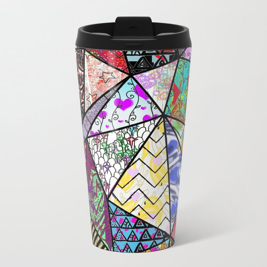 Triangler shaped mix up  Metal Travel Mug