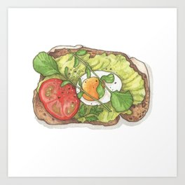 Breakfast & Brunch: Avocado Toast Art Print