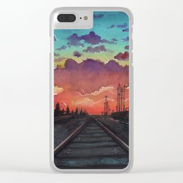 Tracks Clear iPhone Case