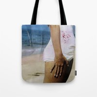 marylin monroe Tote Bags featuring Marylin 2 by j.levent