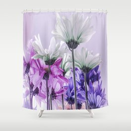 Purple Lavender Flowers Shower Curtain