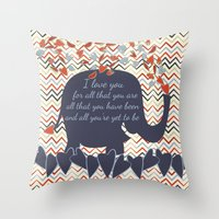 lucas david Throw Pillows featuring Lucas by Luscious Life Studios