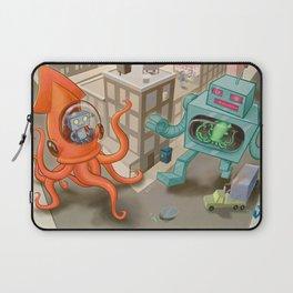 Squid vs Robot Laptop Sleeve
