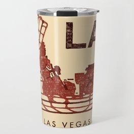 LAS Airport Map + text Travel Mug