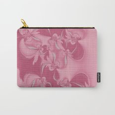 Pink Fractal Flowers Carry-All Pouch