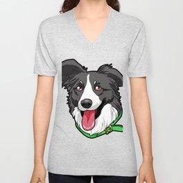Border Collie Elo Dog Puppy Doggie Unisex V-Neck