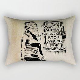 Banksy, Greatness Rectangular Pillow
