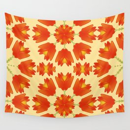 Colorful Floral Print Vector Style Wall Tapestry