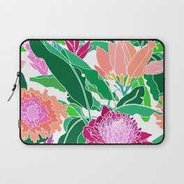 Bird of Paradise + Ginger Tropical Floral in White Laptop Sleeve