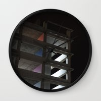 grid Wall Clocks featuring grid by jared smith