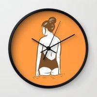 swim Wall Clocks featuring Swim by Mike Force