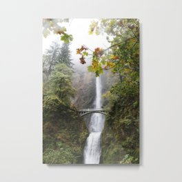 Autumn at Multnomah Falls Metal Print