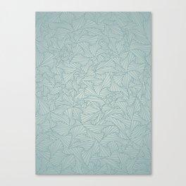 Gray Blue Retro Geometric Waltz Canvas Print