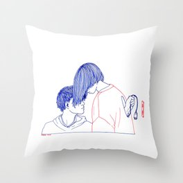 Turn Off Throw Pillow