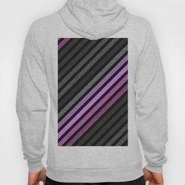 stripEs Slate Gray Purple Pixels Hoody
