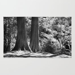 Two trees stand together in Japanese Garden Rug