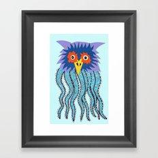 the owl of cthulu Framed Art Print
