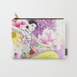 Floral Odyssey Carry-All Pouch