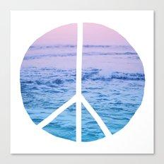 Waves & Peace Canvas Print