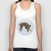 hunting Tank Tops featuring Hunting Lioness by Design Windmill