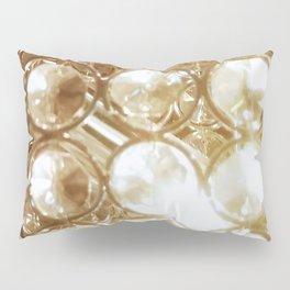 Brilliant Crystals and Gold Tones Pillow Sham