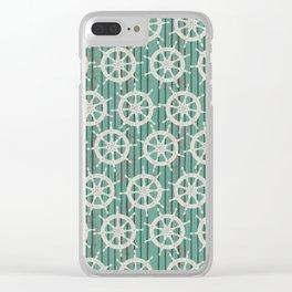 Ahoy Sailor Clear iPhone Case