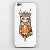 lantern iPhone & iPod Skins featuring Lantern by About Time Mr Wolfe