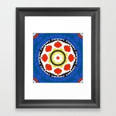 Bold and bright beauty of suzani patterns ver.5 Framed Art Print