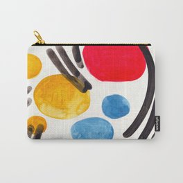Mid Century Modern Abstract Juvenile childrens Fun Art Primary Colors Watercolor Minimalist Pop Art Carry-All Pouch