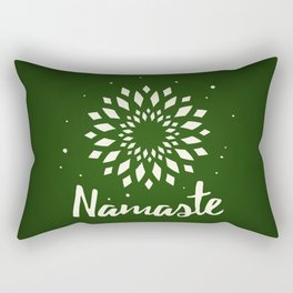 Namaste Mandala Flower Power Rectangular Pillow