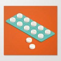 pills Canvas Prints featuring pills by anil yanik