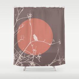 Bird on a branch 2 Shower Curtain
