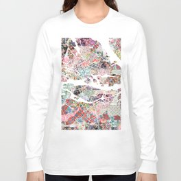 Stockholm map Long Sleeve T-shirt