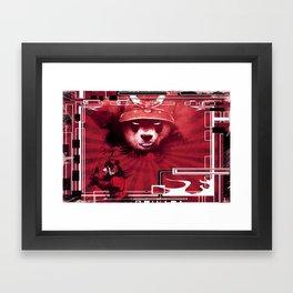 Red Ronin Panda 2 Framed Art Print