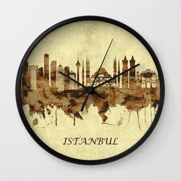 Istanbul Turkey Cityscape Wall Clock