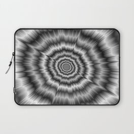 Explosion in Black and White Laptop Sleeve