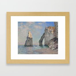 The Rock Needle and the Porte d'Aval by Claude Monet Framed Art Print