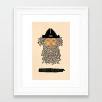 pirate Framed Art Prints featuring Pirate  by okionero