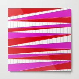 Stripes n zags Metal Print