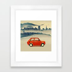 Red Polski Fiat  Framed Art Print