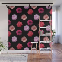 Pattern with camellias Wall Mural