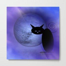 Mooncat's man in the moon Metal Print